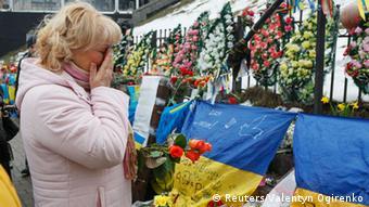 Стена памяти жертвам Майдана в Киеве