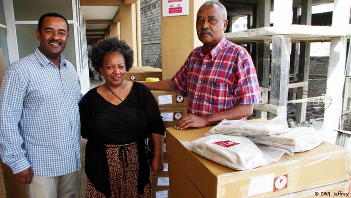 Hailu Tessema (right), founder of Mama Fresh; his wife, Konjit Zewdie and their son Mirafesilassie