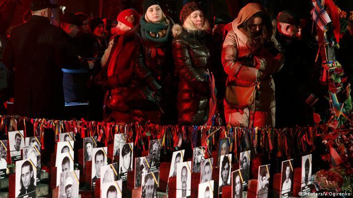 В Киеве почтили память Небесной сотни. 20 февраля 2015 года.