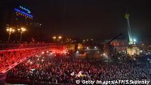 Ukraine Gedenken am 1. Jahrestag des Blutbads auf dem Maidan
