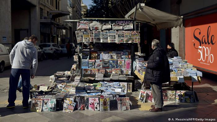 Zeitungsstand in Athen (Foto: A. Messinis/AFP/Getty Images)