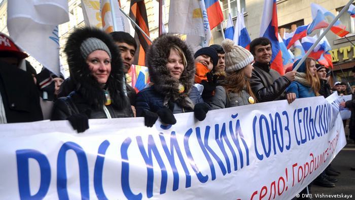 Russland Anti-Maidan Proteste in Moskau