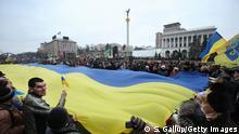 Gedenkmarsch für die Opfer des Aufstands auf dem Maidan in Kiew