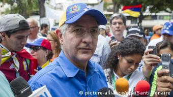 Mayor of Caracas, Antonio Ledezma, participates in a march called by opposition protesters