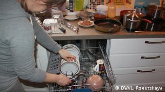 Посудомоечная машина используется в целях экономии воды
