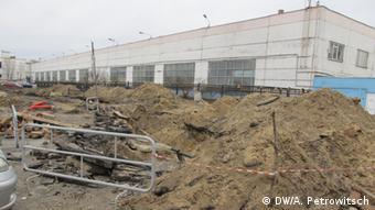 Стройка на территории Брестского электромеханического завода