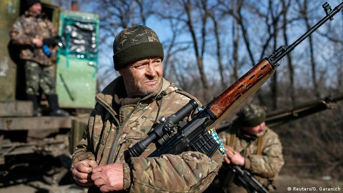 Ukraine Soldaten bei Artemovsk