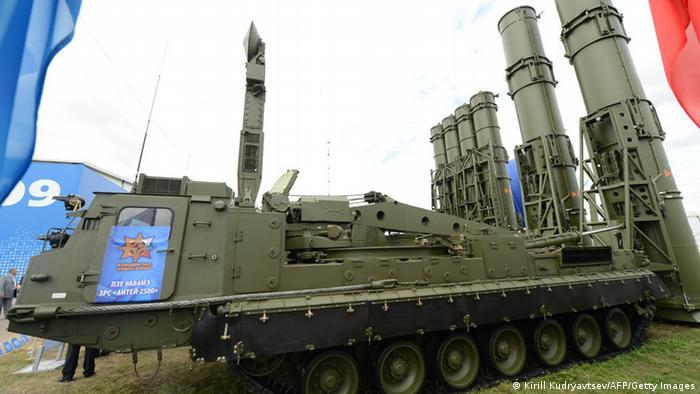 Ein Startplattform für russischen Flugabwehrraketen Antey-2500 (Foto: AFP)
