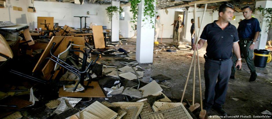 Imagem de arquivo da Universidade Hebraica de Jerusalém, onde um ataque, em julho de 2002, matou nove pessoas