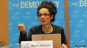 Masih Alinejad in UN (privat)