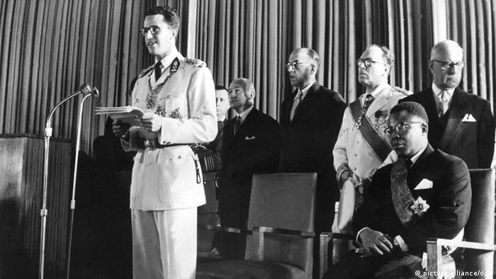 Le discours prononcé par Patrice Lumumba le 30 juin 1960 a sévèrement contrasté avec celui du roi Baudoin