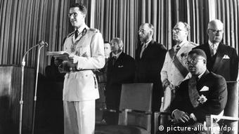 Le roi Baudouin de Belgique le 30 juin 1960 en RDC