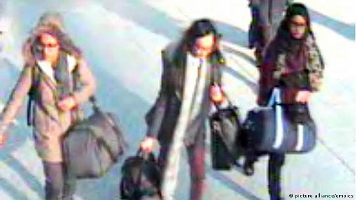 سه دختر بریتانیایی که به سوریه رفتند