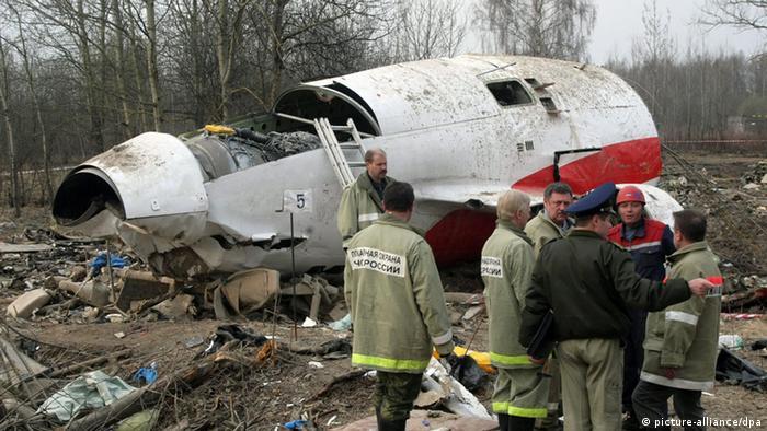 Место катастрофы самолета президента Польши, 2010 год
