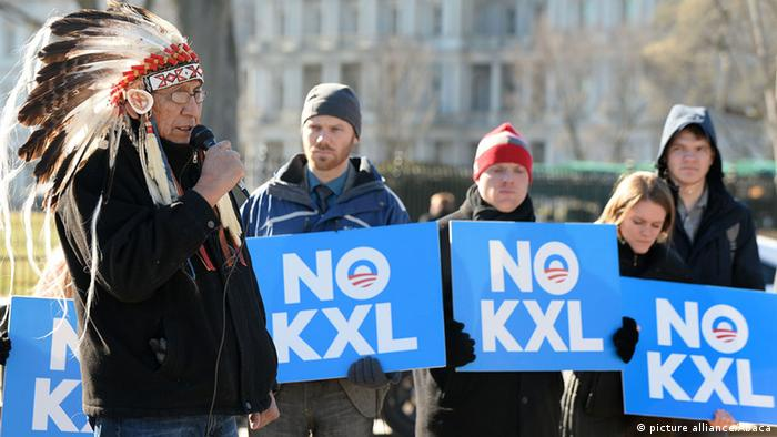 Keystone XL Pipeline Protest (picture alliance/Abaca)