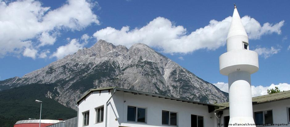 Mesquita no vilarejo alpino de Telfs, na Áustria