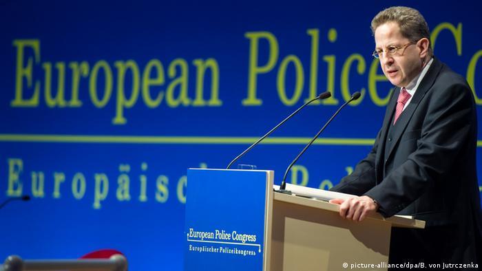 Verfassungsschutz-Präsident Hans-Georg Maaßen spricht auf dem Europäische Polizeikongress in Berlin.
