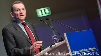 Frontex-Direktor Klaus Rösler spricht auf dem Europäischen Polizeikongress in Berlin.