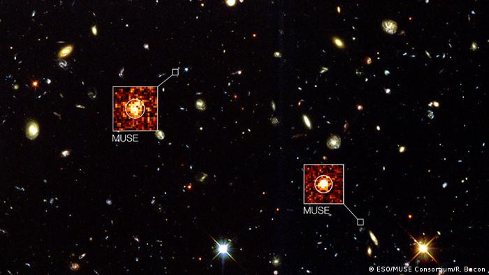 MUSE übertrifft Hubble beim Hubble Deep Field South