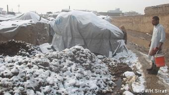 Temporary camp in Kabul