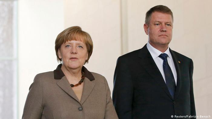 Klaus Iohannis, primit la Berlin de Angela Merkel
