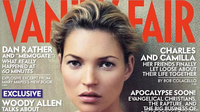 Model Kate Moss auf dem Cover eines Magazins