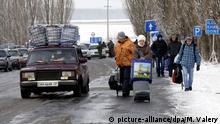 Ukraine, Flüchtlinge an der russischen Grenze