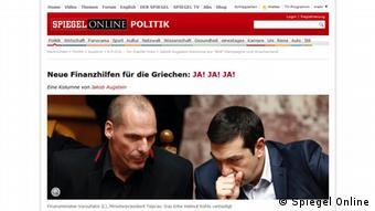 Screenshot Spiegel Online Kommentar von Jakob Augstein