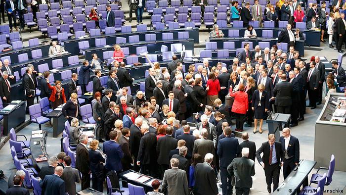 Deutschland Bundestag Debatte Griechenland Hilfe Abstimmung