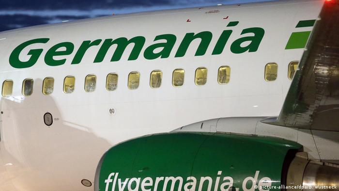 Deutschland Boeing 737 der Fluggesellschaft Germania