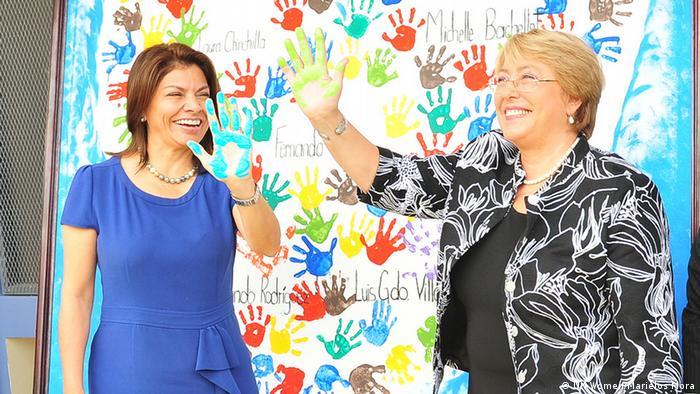 Michelle Bachelet, presidenta de Chile y Laura Chinchilla, exmandataria de Costa Rica.