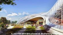 ACHTUNG Nur zur einmaligen Verwendung in Zusammenhang zur aktuellen Berichterstattung über Google. An artist's rendering of the proposal to re-develop part of Google Headquarters North Bayshore campus in Mountain View, California is shown in this handout provided by Google February 27, 2015. REUTERS/BIG&Heatherwick Studio/Google/Handout via Reuters (UNITED STATES - Tags: MEDIA BUSINESS SCIENCE TECHNOLOGY TELECOMS) ATTENTION EDITORS - THIS PICTURE WAS PROVIDED BY A THIRD PARTY. REUTERS IS UNABLE TO INDEPENDENTLY VERIFY THE AUTHENTICITY, CONTENT, LOCATION OR DATE OF THIS IMAGE. FOR EDITORIAL USE ONLY. NOT FOR SALE FOR MARKETING OR ADVERTISING CAMPAIGNS. NO SALES. NO ARCHIVES. THIS PICTURE IS DISTRIBUTED EXACTLY AS RECEIVED BY REUTERS, AS A SERVICE TO CLIENTS