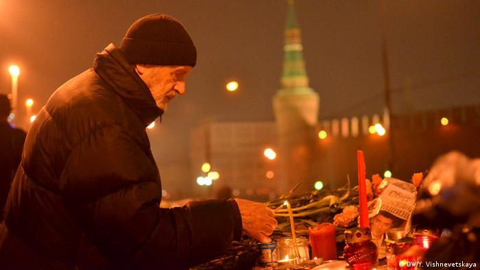 Russland Moskau Trauer Boris Nemzow
