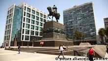Die Artigas-Statue auf dem Plaza Independencia in Montevideo. Aufgenommen am 23.11.2011. Foto: Daniel Gammert