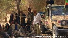 13.02.2015 *** Fighters from the Tuareg separatist rebel group MNLA take shade under a tree in the desert near Tabankort, February 13, 2015. Mali's government and Tuareg-led rebels resumed U.N.-sponsored peace talks in Algeria on Monday in pursuit of an accord to end uprisings by separatists seeking more self-rule for the northern region they call Azawad. Picture taken February 13, 2015. REUTERS/Souleymane Ag Anara (MALI - Tags: MILITARY CONFLICT POLITICS)