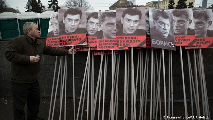 Russland Trauermarsch zum Gedenken an Boris Nemzow am 01.03.2015