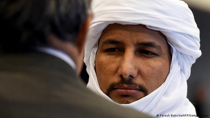 Bilal Acherif, the general-secretary of the National Movement for the Liberation of Azawad, looks on during a peace agreement ceremony. Photo: FAROUK BATICHE/AFP/Getty Images
