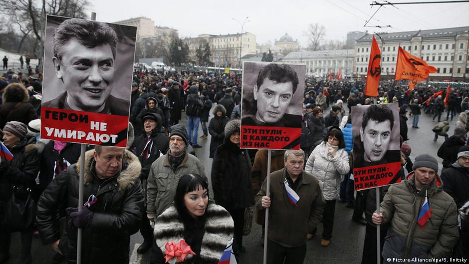 Shocked Moscow residents rally after Nemtsov murder | DW | 01.03.2015