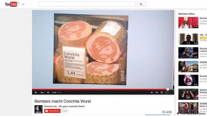 Bembers Conchita Wurst image on YouTube, Copyright: YouTube/Bembers