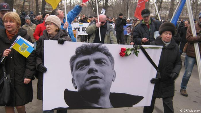 A march honoring Nemtsov in Moscow