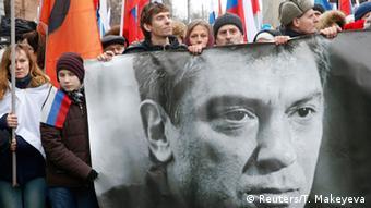Russland Moskau Gedenkmarsch Mord Nemzow