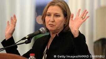 Zipi Livni, lidera Campo Sionista con Itzhak Herzog.