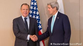 John Kerry and Sergei Lavrov