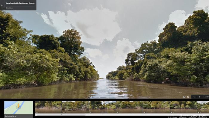 Screenshot Google Earth Streetview Juma Reservat