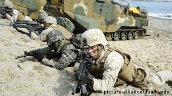 Südkorea Militär Soldaten Übung (picture-alliance/dpa/Kyodo)