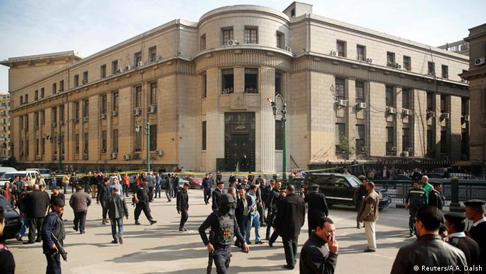 Police stand guard near Cairo's High Court