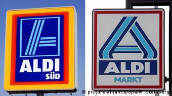 Tα logo των Aldi Süd και Αldi Nord (Aldi Markt)