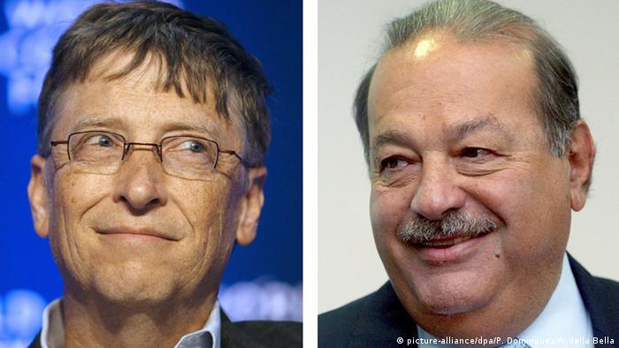 Bill Gates und Carlos Slim (picture-alliance/dpa/P. Dominguez/A. della Bella)