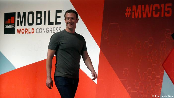 Spanien Mobile World Congress 2015 Mark Zuckerberg