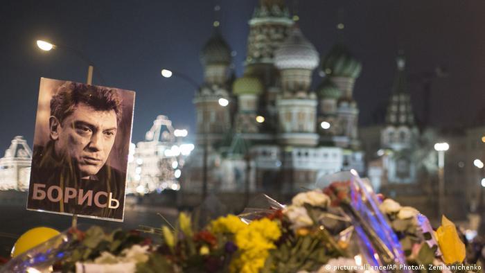 Цветы на месте гибели Бориса Немцова (фото из архива)